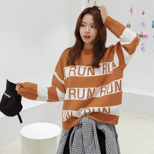 <b>Run color combination Knit</b>