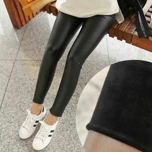 <b>Mobi Mink Leather Leggings</b>
