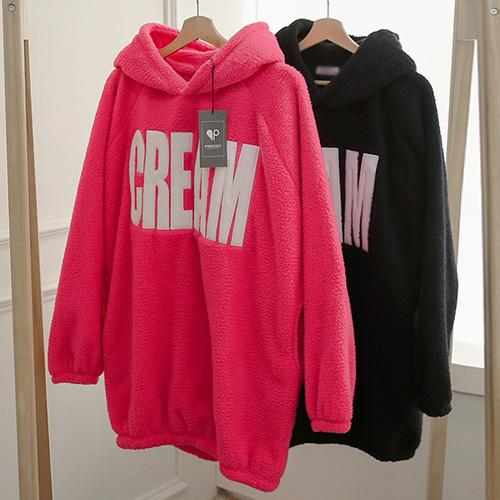 <b>Klem Boa Fur Hood Dress</b>