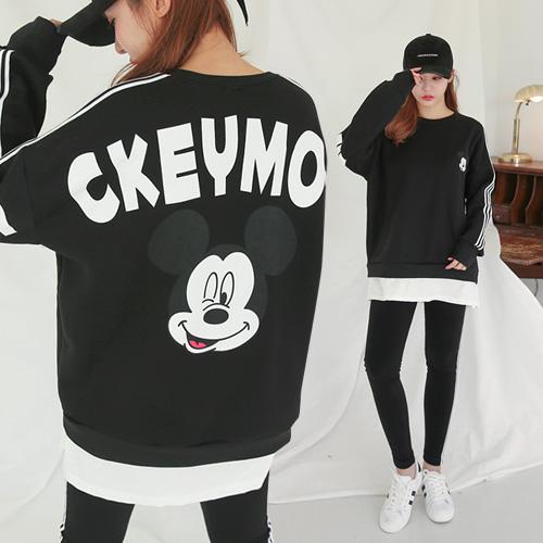 <b>[SET] Set of Mickey leggings layered brushed linen</b>