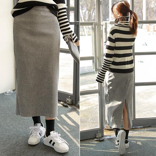 <b>Velveteen bending skirt</b>