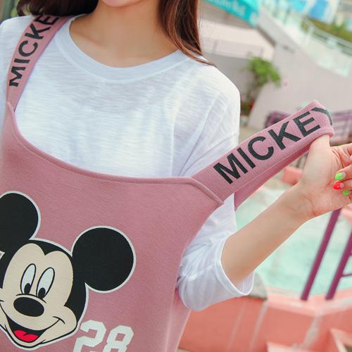 <b>He Mickey Shoulder strap One Piece</b>