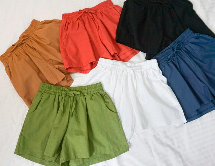 <b>Shorts Linen Bending Pants</b>