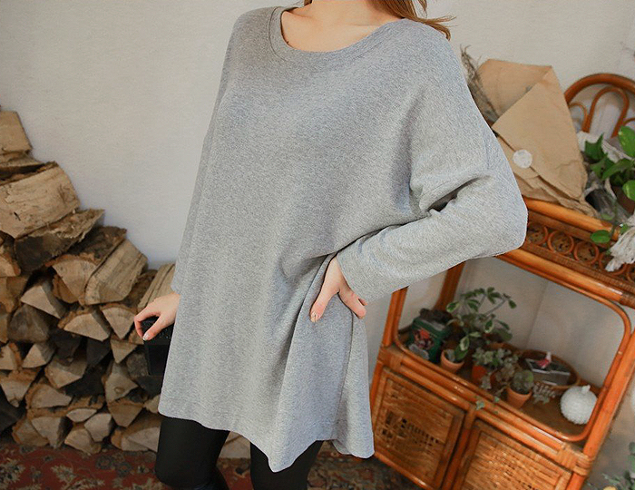 <b>Rousseau outer brushed span Long Tee</b>