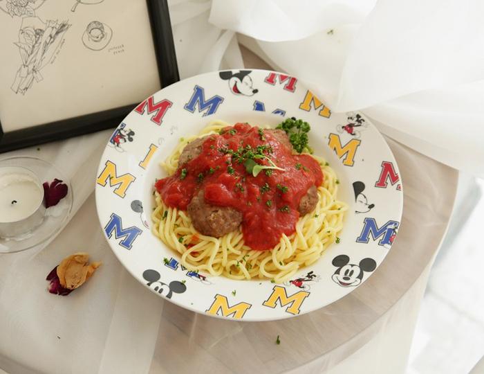 <b>[Pink Sisley X Disney] White Line M Pasta Ball</b>