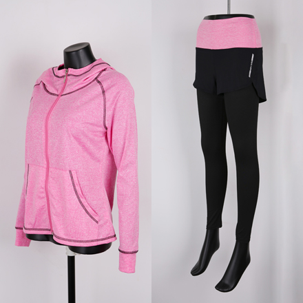 <b>[SAMPLE SALE] [SET] Warner Fit Zip up + Leggings Pants Set</b>