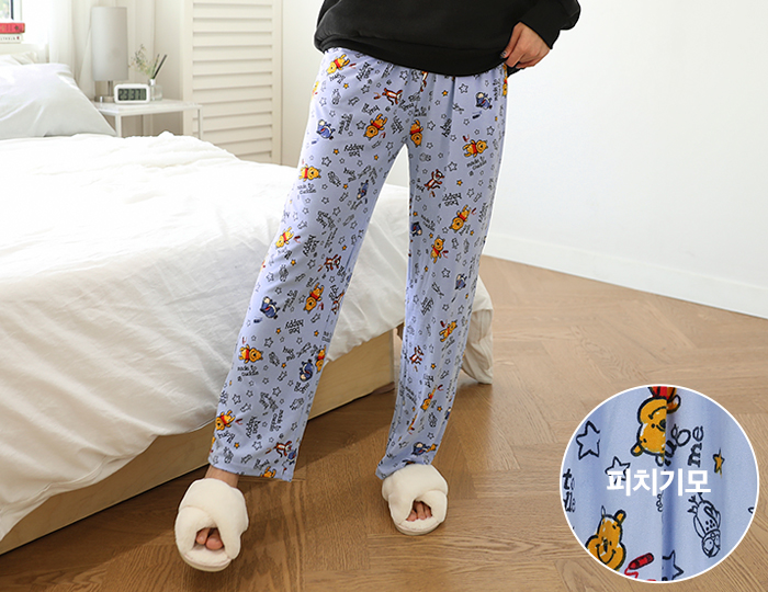 <b>Pooh Friends Peach Pajama Pants</b>