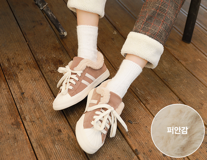 <b>Legato line Fur Sneakers</b>