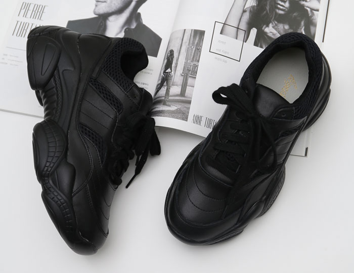 <b>clean mesh leather Height increase Sneakers (5.5.cm)</b>