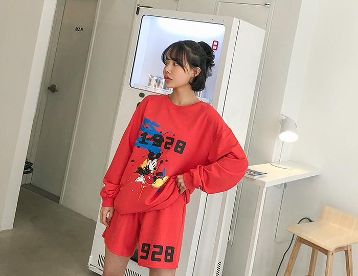 <b>[SET] Mickey print shorts set</b>