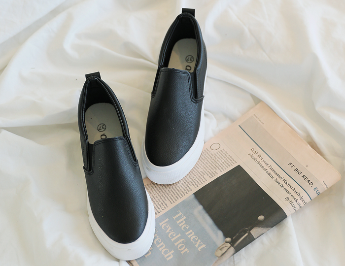 <b>Crack Height increase Slip-on Shoes (6.5cm)</b> <br><br> <font color=red>[Book Sales] 4/1 Sequential Shipping</font> </br>