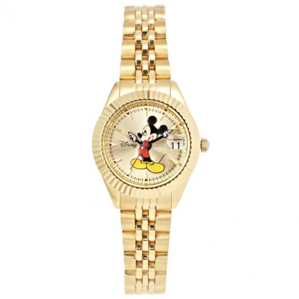 <b>Mickey Gold Metal -Clock</b>