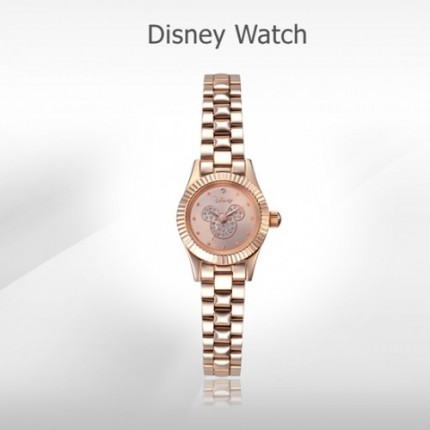 <b>Mickey Rose Gold Metal -Clock</b>