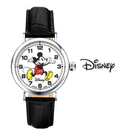 <b>Crack Mickey Leather-Clock</b>