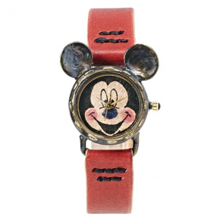 <b>Vintage Mickey Leather-Clock</b>