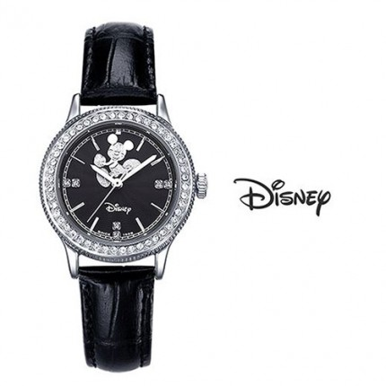 <b>Dance Mickey Leather-Clock</b>