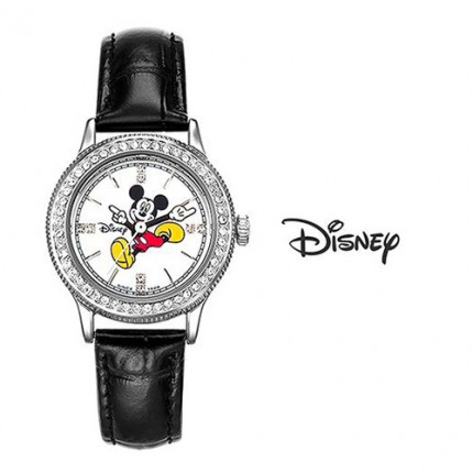 <b>Color Mickey Leather-Clock</b>