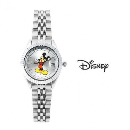 <b>Color Mickey Silver Metal -Clock</b>