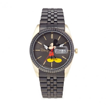 <b>large Matte Mickey Black Metal -Clock</b>