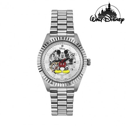 <b>Automatic Mickey Silver Metal -Clock</b>