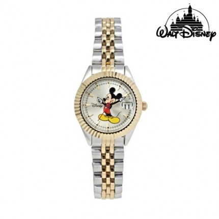 <b>Mickey Wrist Silver Metal -Clock</b>