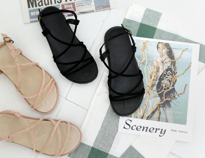 <b>Ridder Twisted Line Sandals (2cm)</b>