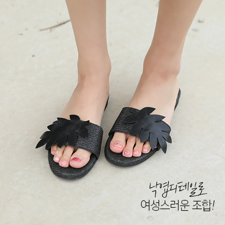 <b>leaf Woman Slippers (1.5cm)</b>