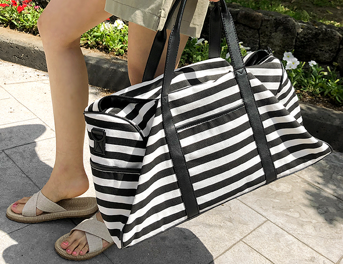 <b>Stripe Boston Bag</b>