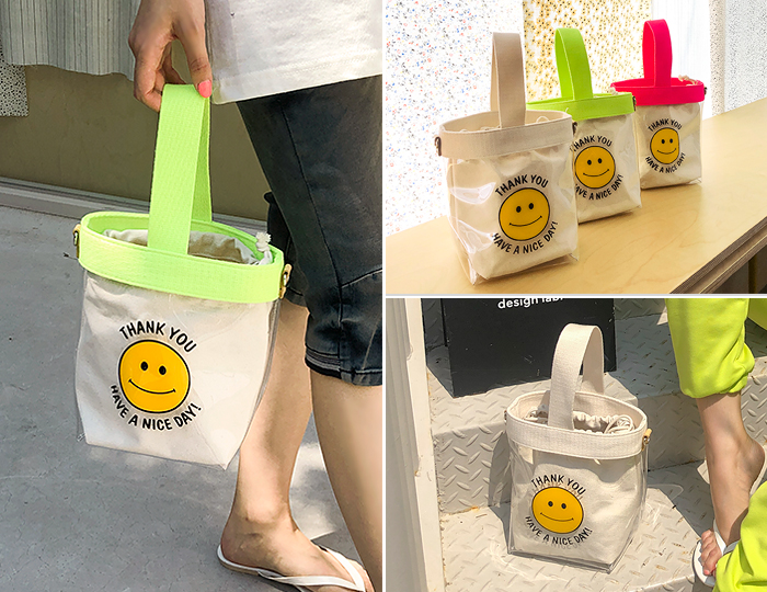 <b>Smile Round Bucket BAG</b>