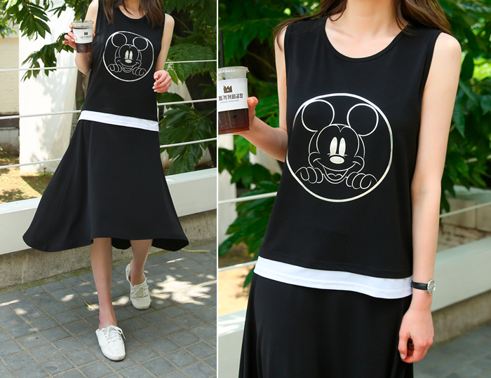 <b>[SET] Mickey Ice Flare Skirt Set</b>