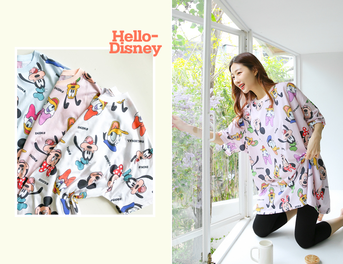 <b>Hello Disney Rouge Long tee</b>