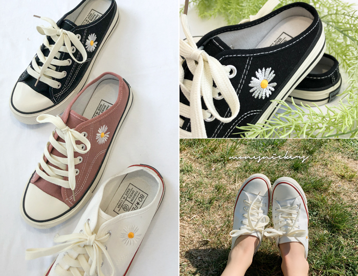 <b>Monet Embroidery Sneakers Blogger</b>