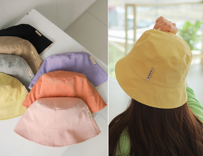 <b>pastel color double sided bucket-hat</b>